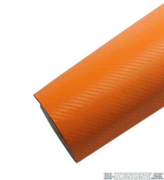 3D karbónová fólia oranžová