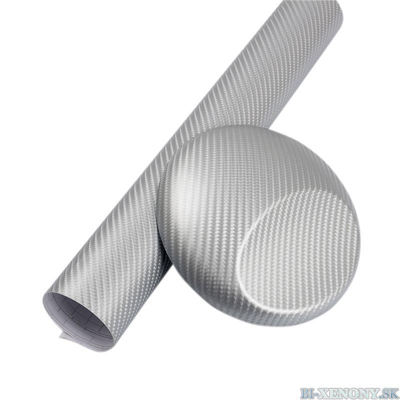3D karbónová fólia strieborná