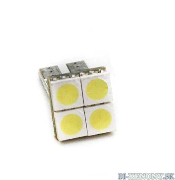4-SMD 5050 LED diódy T10 CANBUS