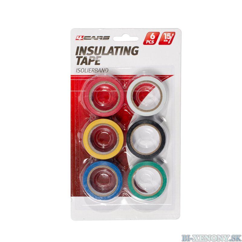 4CARS izolačná páska farebná 6KS, 15mm