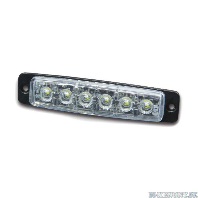 Pozičné výstražné LED svetlo, 12-24V, R65, oranžové 911F6-A