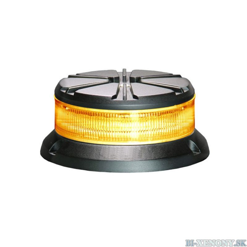 LED výstražný maják, 24LED, 12-24V, 3-bodový úchyt, R65, oranžový, 911FD24-A