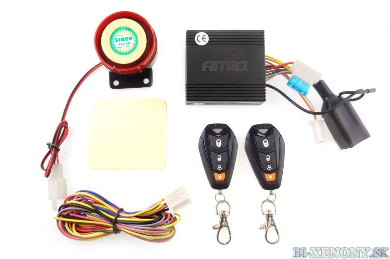 Alarm na motorku MCA14 s diaľkovými ovládačmi
