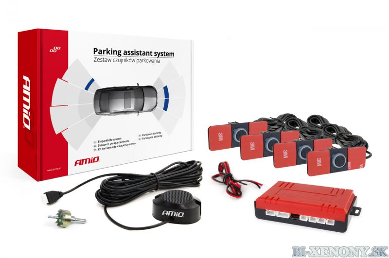AMiO 4-senzorové parkovacie senzory bez LCD vnútorné 16,5mm