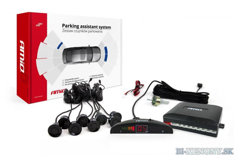 AMiO 8-senzorové parkovacie senzory s LCD
