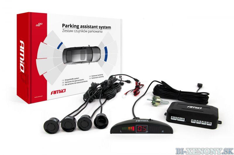 AMiO VERTEX 4-senzorové parkovacie senzory s LCD