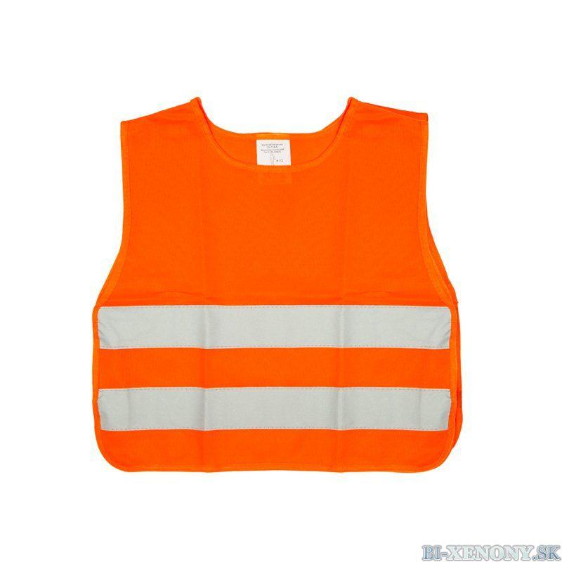 detská reflexná vesta oranžová