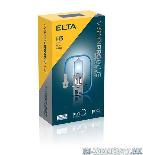 ELTA H3 12V 55W Vision PRO BLUE BOX 2ks