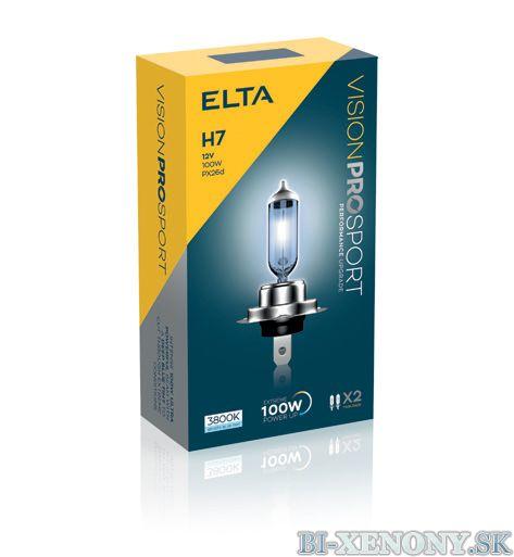 ELTA H7 12V 100W Vision PRO SPORT BOX 2ks