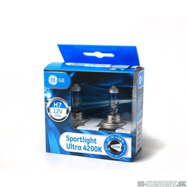 GE  Halogénová žiarovka Sportlight Ultra +30%, H7, 4200K, 2ks