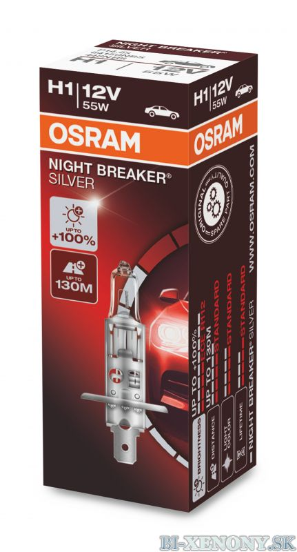 H1 OSRAM Night Breaker Silver +100% 1ks