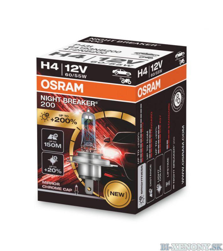 H4 OSRAM Night Breaker Laser +200% 1ks