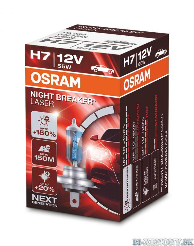 H7 OSRAM Night Breaker Laser +150% 1ks