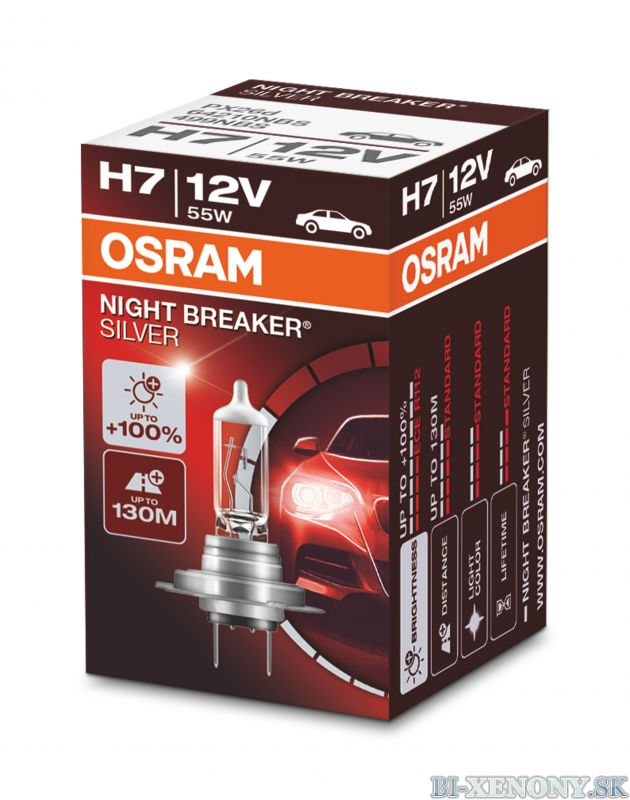H7 OSRAM Night Breaker Silver +100% 1ks