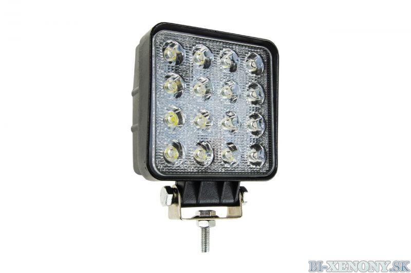 LED pracovné svetlo 16x LED AWL05 EMC 108x108 48W FLAT 9-60V