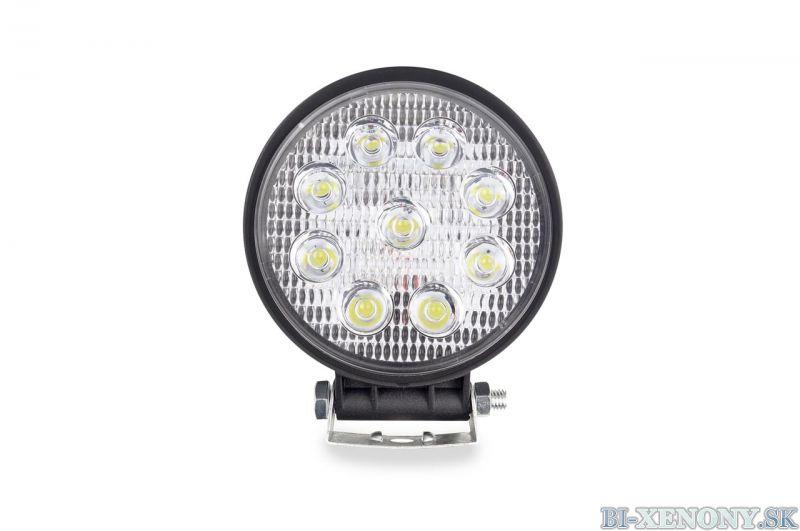 LED pracovné svetlo 9LED Ø110 35W FLAT 9-36V AWL06