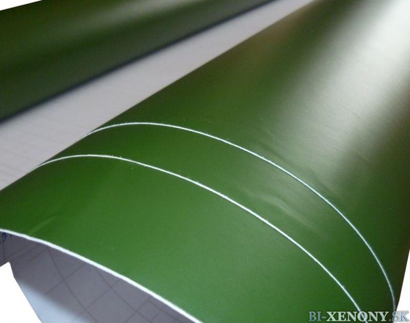 matná army zelená fólia