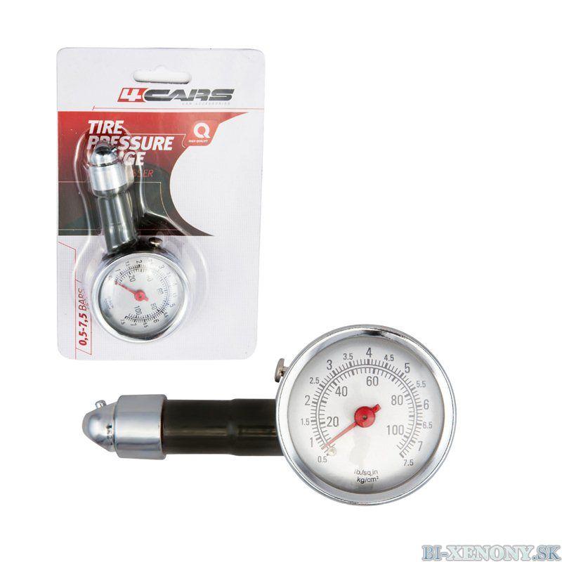merač tlaku v pneumatikách
