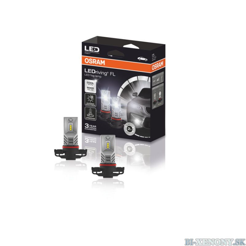 Osram 2604CW LEDriving FL PSX24W PG20-7