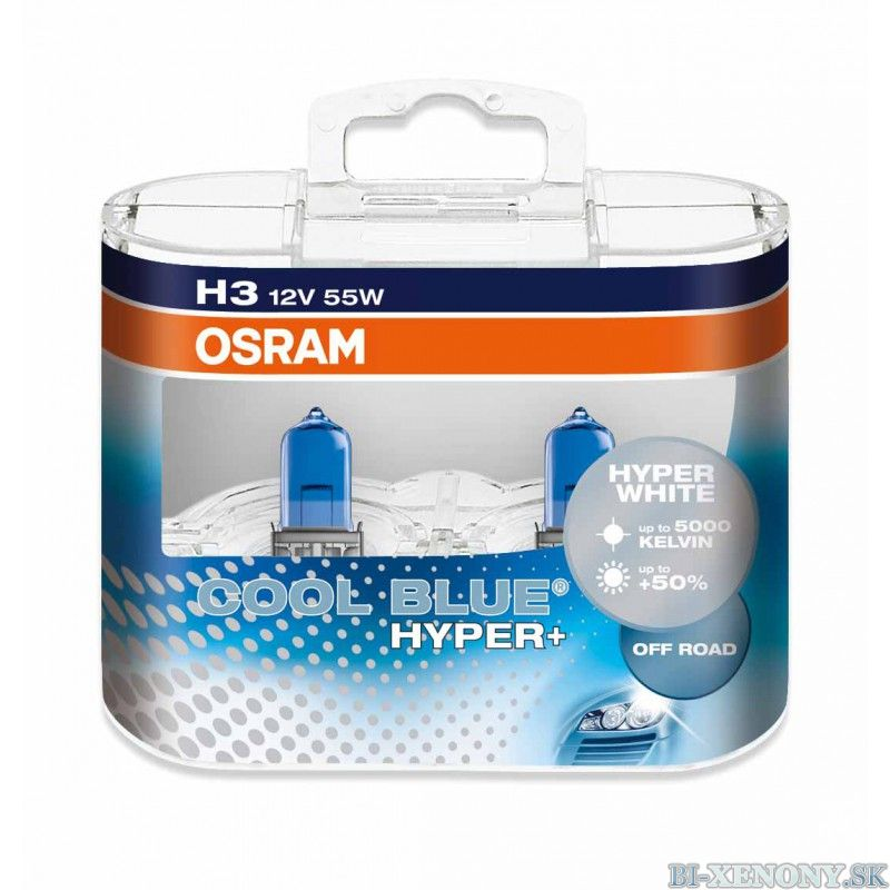 Osram H3 Cool Blue Hyper 5000 K 12V 55W Box