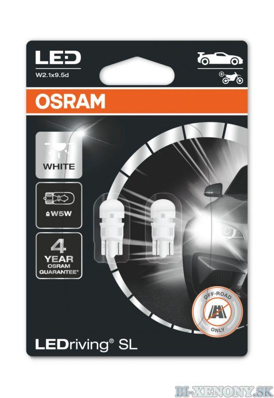 Osram LEDriving SL 2825DWP-02B W5W 12V 6000K Cool White
