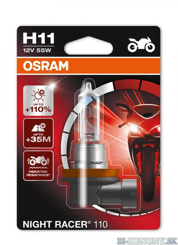 Osram Night Racer +110% 12V H11 55W