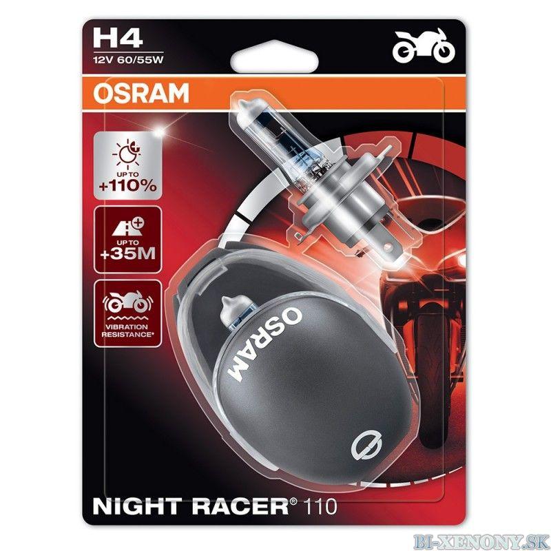 Osram Night Racer +110% 12V H4 60W/55W 2KS 01
