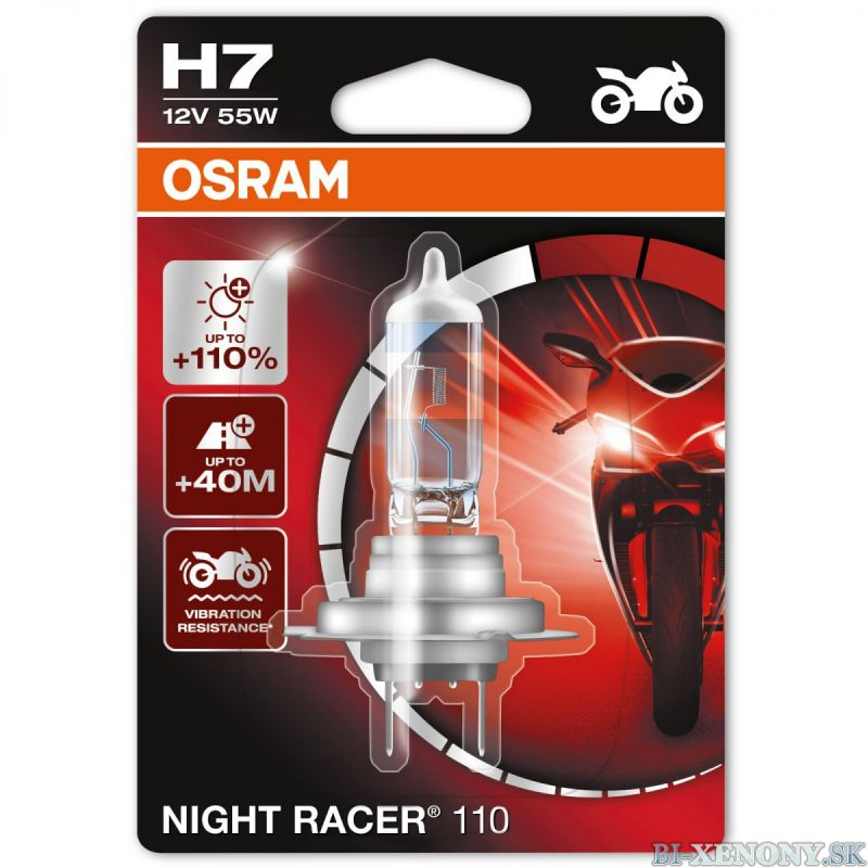 Osram Night Racer +110% 12V H7 55W 1KS