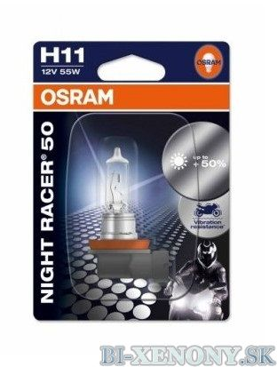 OSRAM NIGHT RACER 50 H11 55W +50% 1KS
