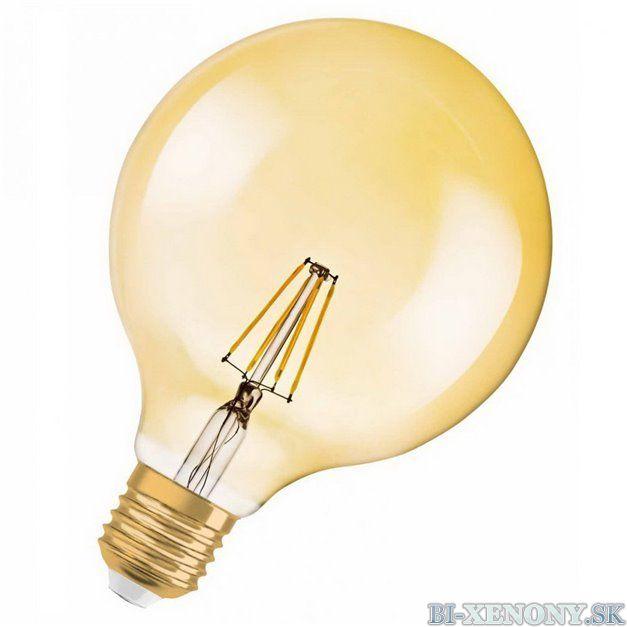 Osram Vintage 1906 LED CL GLOBE125 FIL GOLD 51 7W/824 E27 2400K