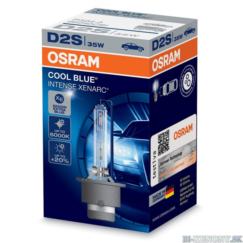 osram xenonov v bojka d2s 35w xenarc cool blue intense bi auto xenony bixenony. Black Bedroom Furniture Sets. Home Design Ideas