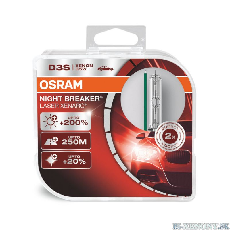 Osram. xenonová výbojka D3S XENARC NIGHT BREAKER LASER +200% BOX