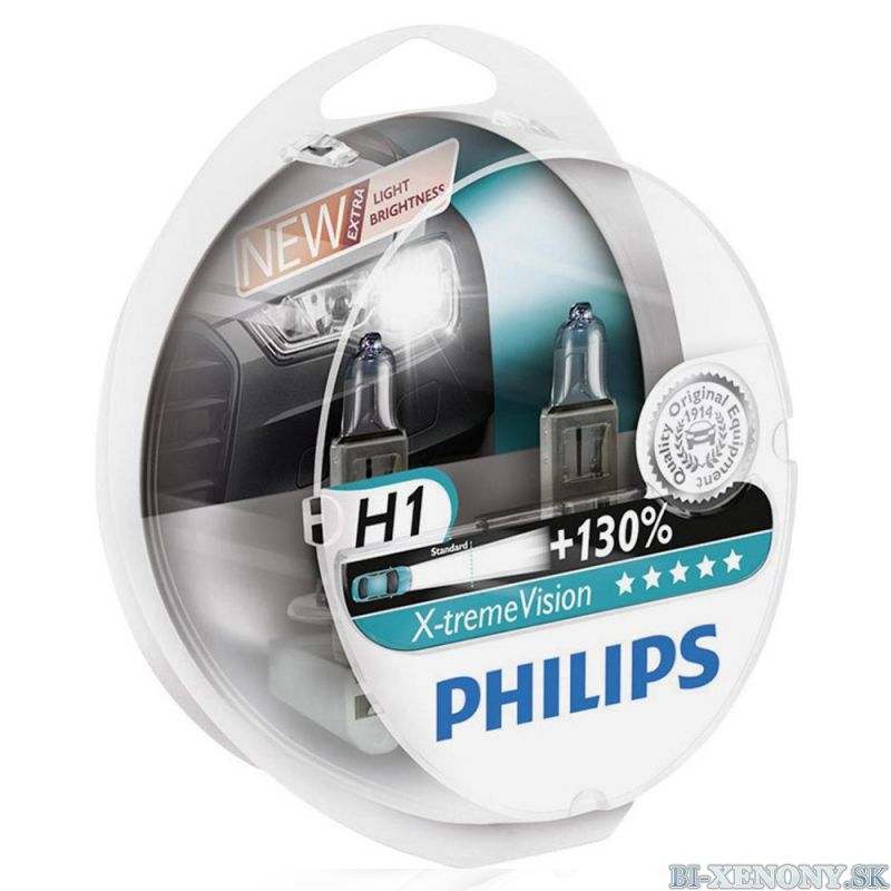 Philips 12V H1 X-treme Vision +130% Box