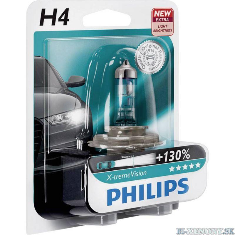Philips 12V H4 60/55W P43T X-treme Vision +130% 1ks