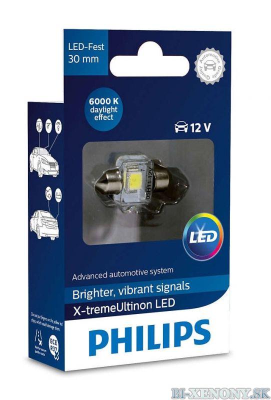 PHILIPS C5W X-tremeVision 12V 1W LED 6000K - 30mm 1