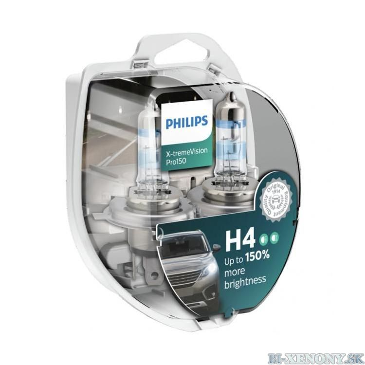 Philips X-tremeVision PRO150 H4 12V 60/55W 12342XVPS2 Box