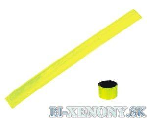 Reflexný pásik žltý s kovovou výstuhou 30CM, sada 2ks