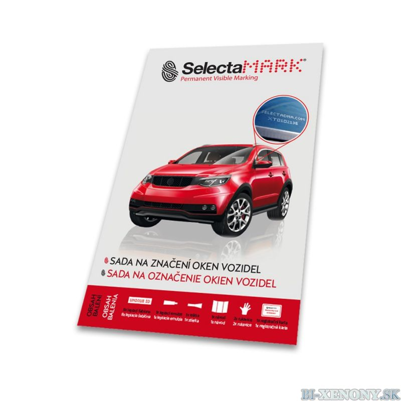 SelectaMark VKIT Leptacia sada na označovanie skiel vozidla