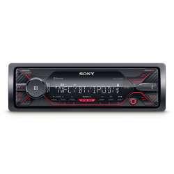 Autorádio SONY, 1DIN s USB a Bluetooth, červené DSXA410BT.EUR