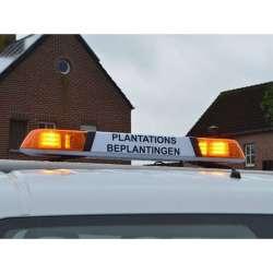 LED rampa Instructor 120cm, 12-24V, 24LED, podsvietenie, oranžová INST48-A
