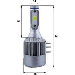 LED prestavbová sada H15 36W 6000K