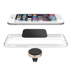 Magnetický držiak smartfónu do mriežky ventilácie, zlatý okraj MH MAG GOLD