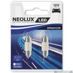 NEOLUX LED 12V 0,5W NF6431CW 6000K 31mm