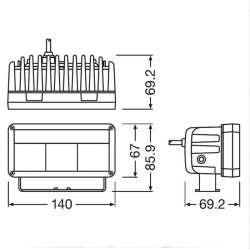 Osram LEDriving Ligthbar MX140 LEDDL102-SP 12/24V 30/2W