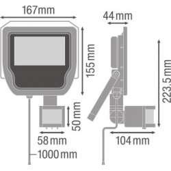 Osram Ledvance FLOODLIGHT 20 W 4000 K IP65 BK Senzor