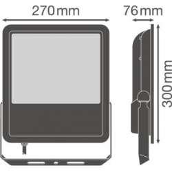 Osram Ledvance FLOODLIGHT SL 135 W 4000 K IP65 BK Súmrakový spínač
