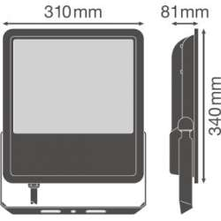 Osram Ledvance FLOODLIGHT SL 180 W 4000 K IP65 BK Súmrakový spínač
