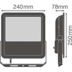Osram Ledvance FLOODLIGHT SL 90 W 4000 K IP65 BK Súmrakový spínač