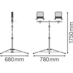 Osram Ledvance WORK VAL 3POD 2x30 W 4000 K IP65