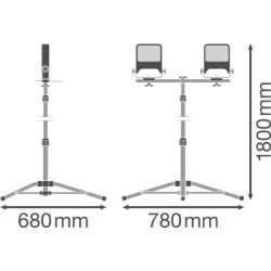 Osram Ledvance WORK VAL 3POD 2x50 W 4000 K IP65